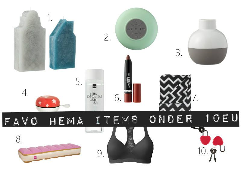 Favoriete HEMA items onder de €10