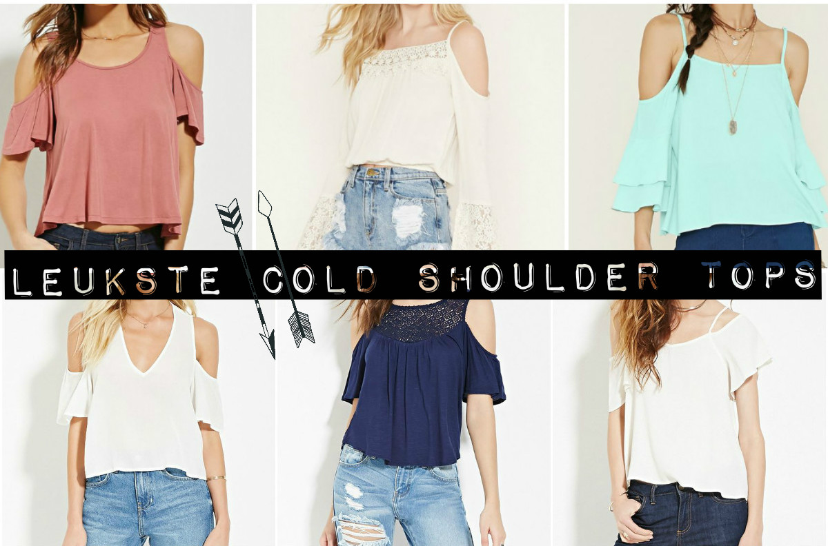 Leukste cold shoulder tops