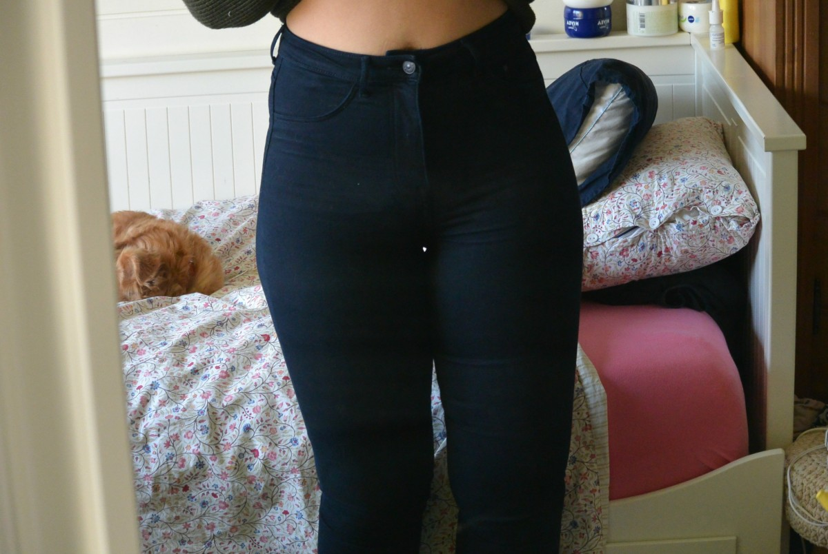high waisted jegging