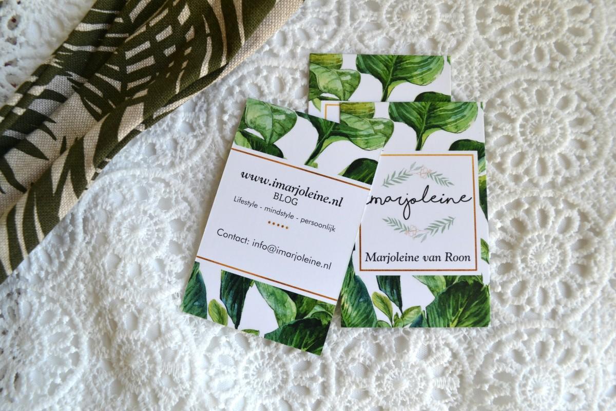 visitekaartjes voor mijn blog