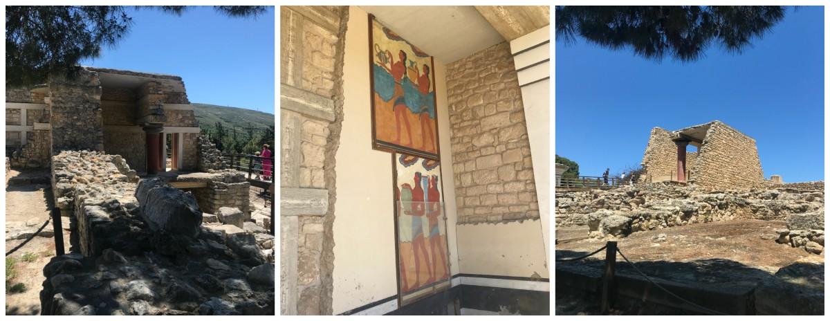 eiland kreta, opgravingen van Knossos