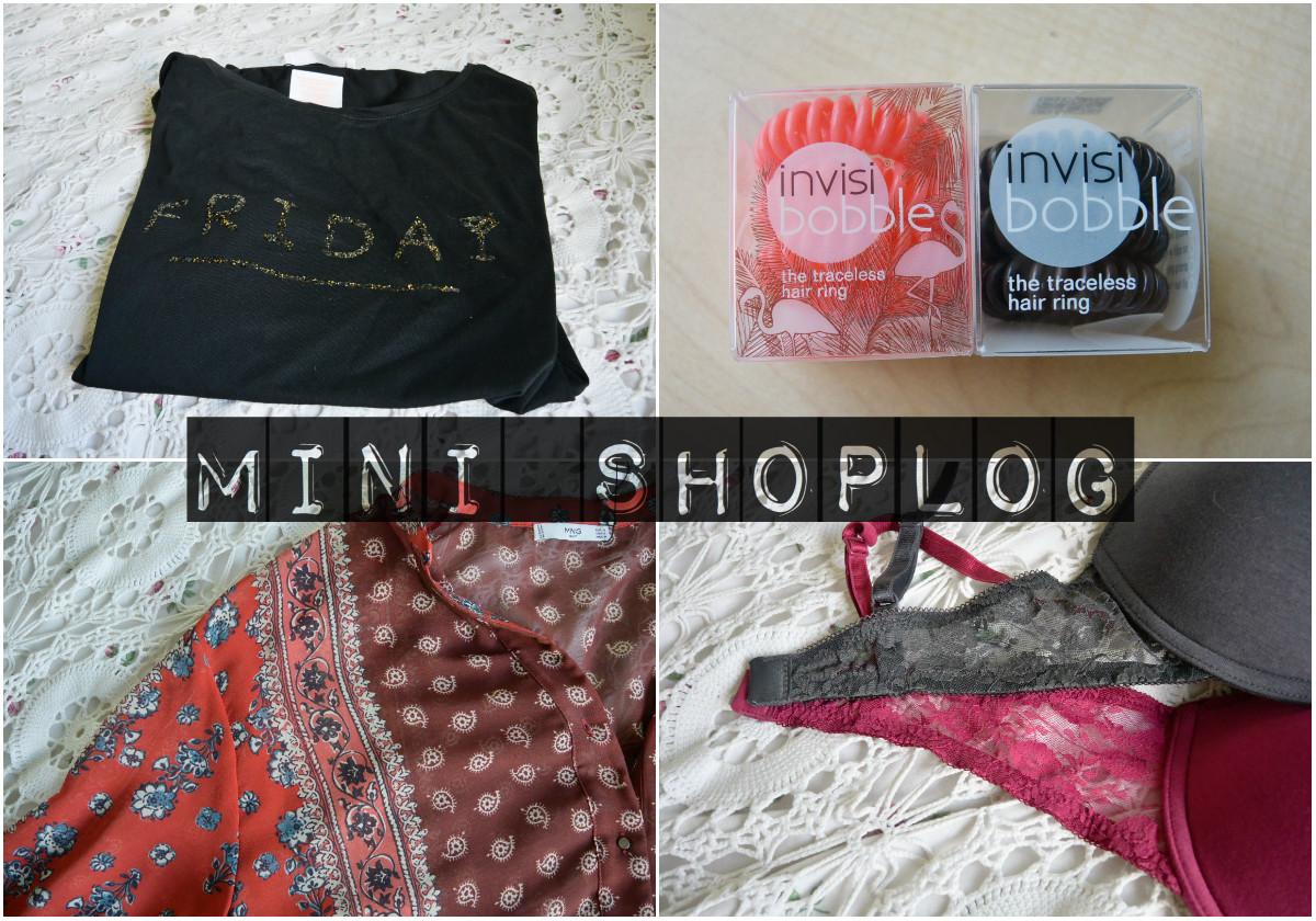 Mini shoplog – H&M, Mango & Douglas