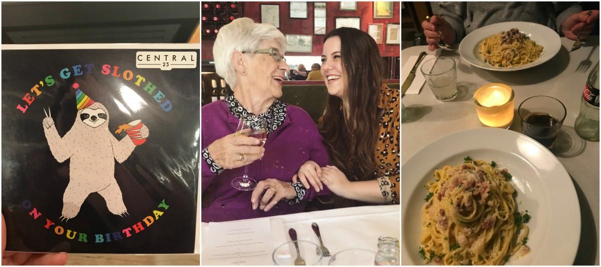 DIARY | Weer eten bij de Pastakantine & oma 86 jaar